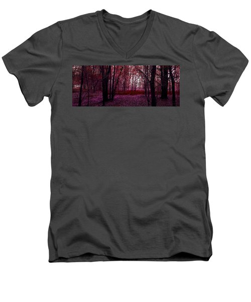 Through A Forest Men's V-Neck T-Shirt by Michele Carter