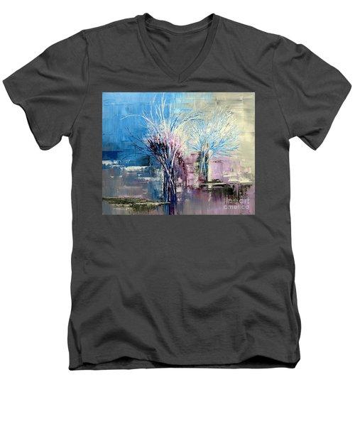 Through Morning's Light Men's V-Neck T-Shirt by Tatiana Iliina