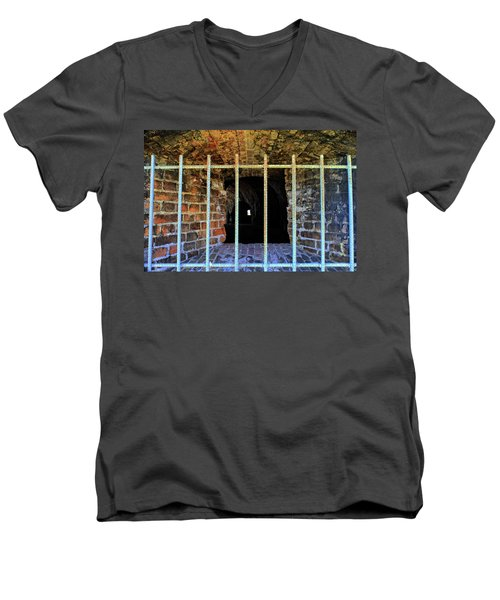 Through The Bars Men's V-Neck T-Shirt