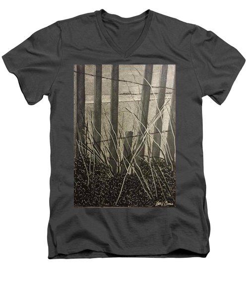Through The Beach Fence Men's V-Neck T-Shirt