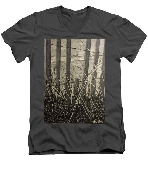 Through The Beach Fence Men's V-Neck T-Shirt