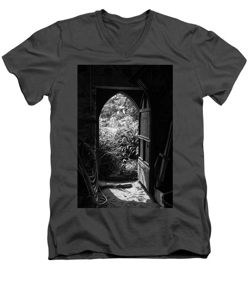 Men's V-Neck T-Shirt featuring the photograph Through The Door by Clare Bambers