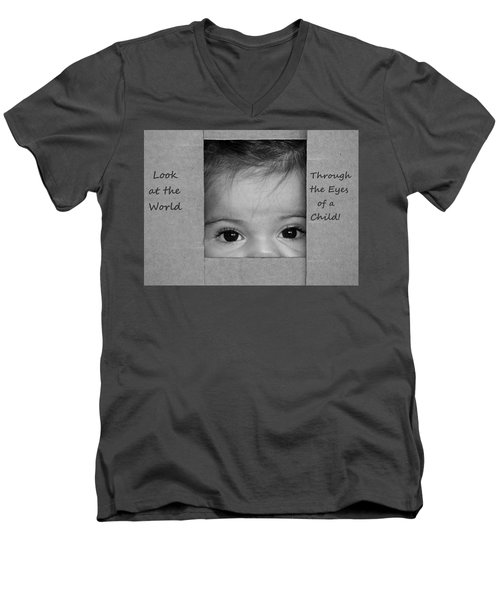 Through The Eyes Of A Child Men's V-Neck T-Shirt