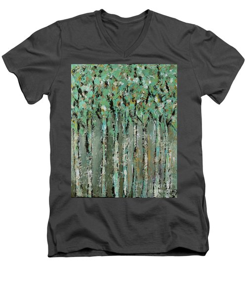 Through The Forest Men's V-Neck T-Shirt by Kirsten Reed