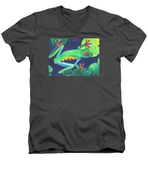 Through The Lily Pads. Men's V-Neck T-Shirt by Vivien Rhyan