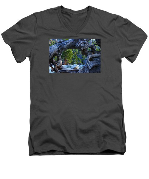 Through The Looking Glass Men's V-Neck T-Shirt by Sean Sarsfield