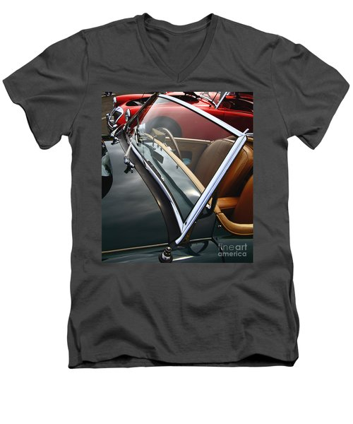 Men's V-Neck T-Shirt featuring the photograph Through The Looking Glass by Stephen Mitchell
