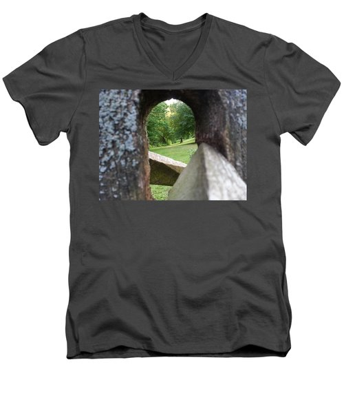 Men's V-Neck T-Shirt featuring the photograph Through The Post by Robert Knight