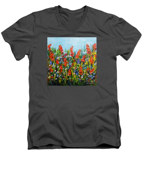 Through The Wild Flowers Men's V-Neck T-Shirt