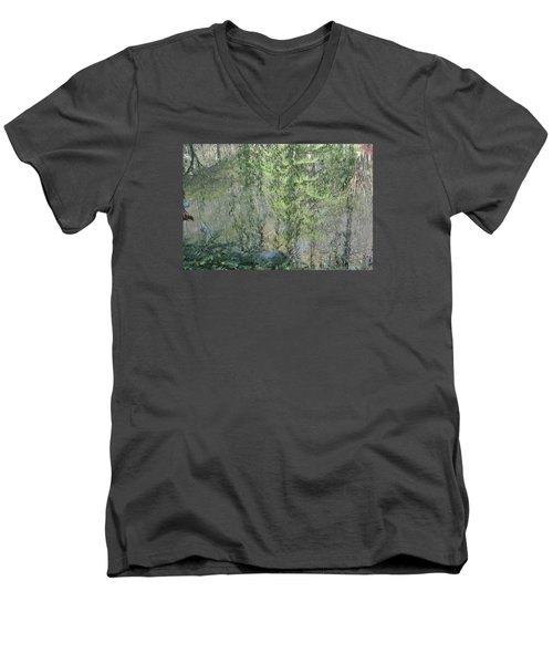 Through The Willows Men's V-Neck T-Shirt by Linda Geiger