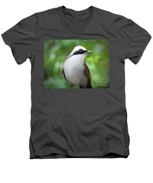 Thrush Pose Men's V-Neck T-Shirt by Judy Kay