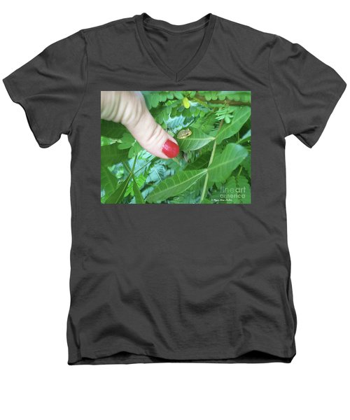 Men's V-Neck T-Shirt featuring the photograph Thumb Sized by Megan Dirsa-DuBois