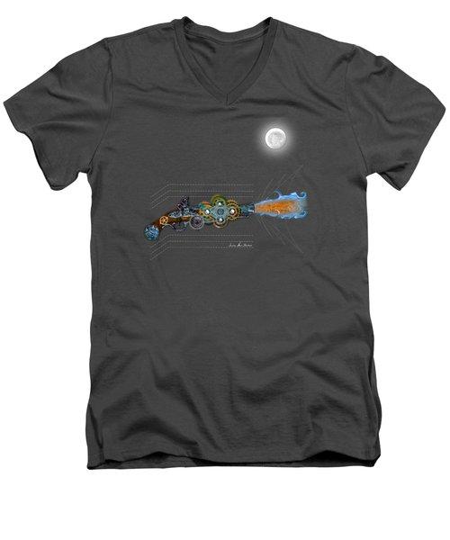 Thunder Gun Of The Dead Men's V-Neck T-Shirt