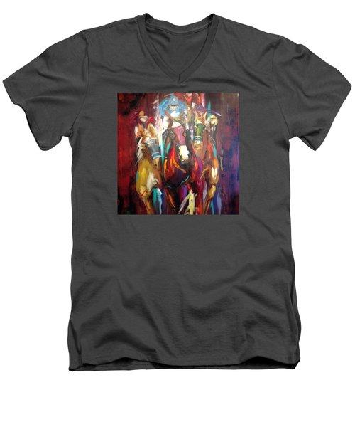 Thunder  Men's V-Neck T-Shirt by Heather Roddy