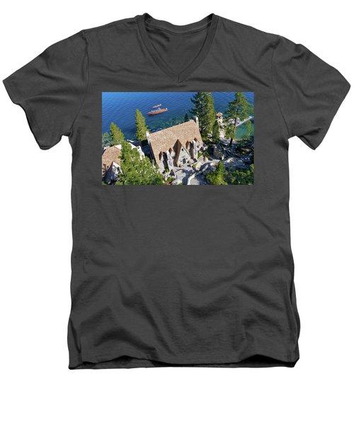 Thunderbird Lodge Aerial Men's V-Neck T-Shirt