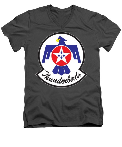 Thunderbirds Logo Men's V-Neck T-Shirt