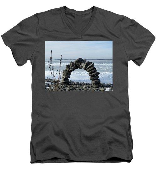 Tibbetts Point Arch Men's V-Neck T-Shirt