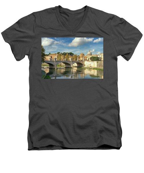 Tiber View Men's V-Neck T-Shirt