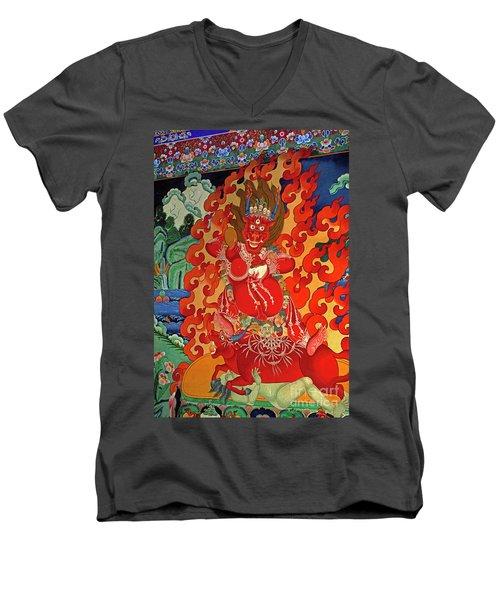Tibet_190-12 Men's V-Neck T-Shirt