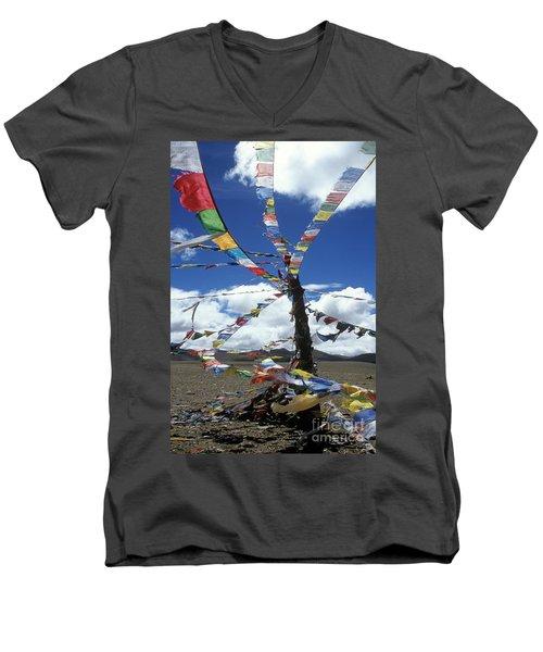 Tibet_304-8 Men's V-Neck T-Shirt