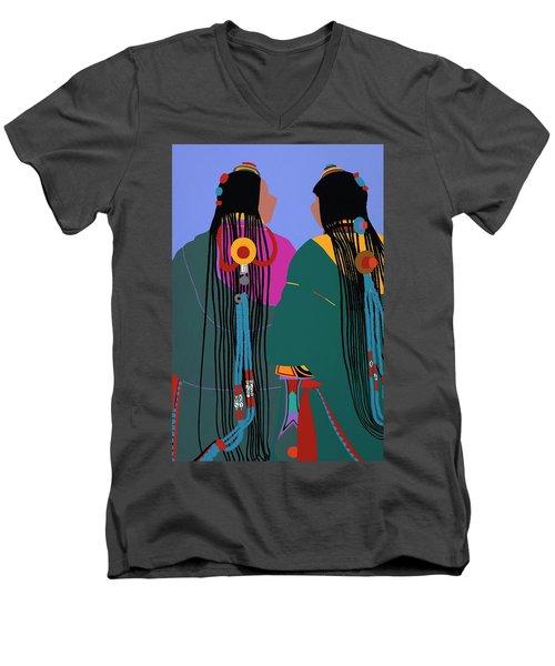 Tibetan Women Men's V-Neck T-Shirt