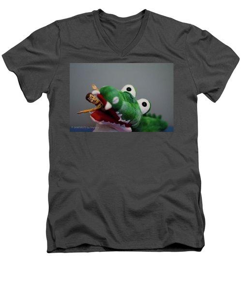 Tick Tock Crock Men's V-Neck T-Shirt