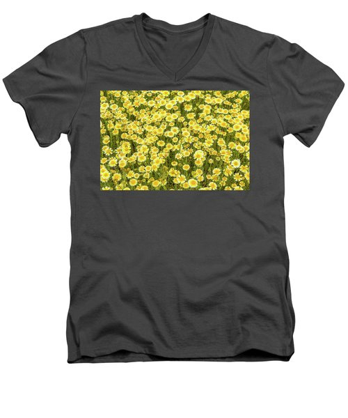 Men's V-Neck T-Shirt featuring the photograph Tidy Tips by Marc Crumpler