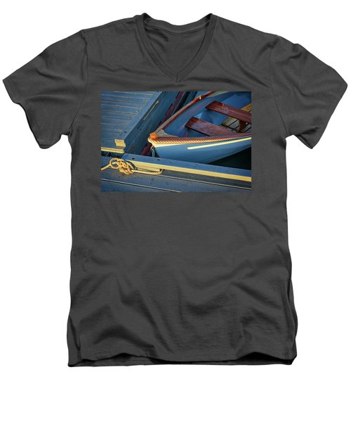 Men's V-Neck T-Shirt featuring the photograph Tied Up by Rick Berk