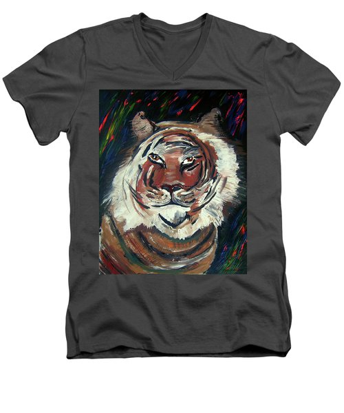 Tiger Men's V-Neck T-Shirt