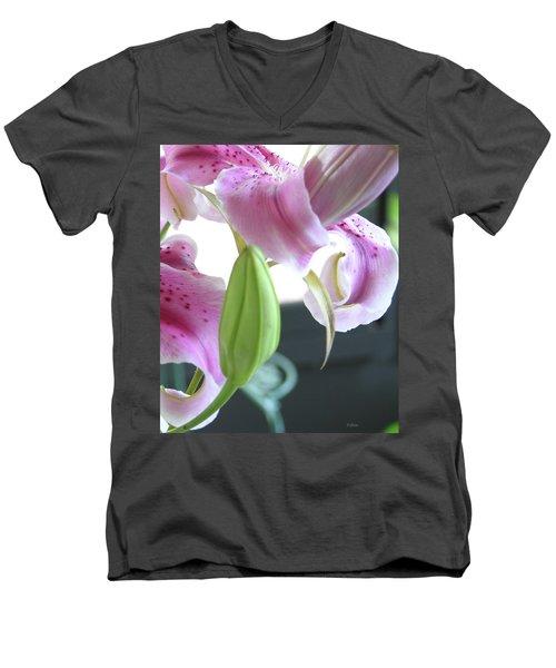 Tiger Lily Bud Men's V-Neck T-Shirt