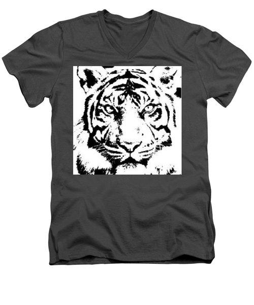 Tiger Men's V-Neck T-Shirt by Now