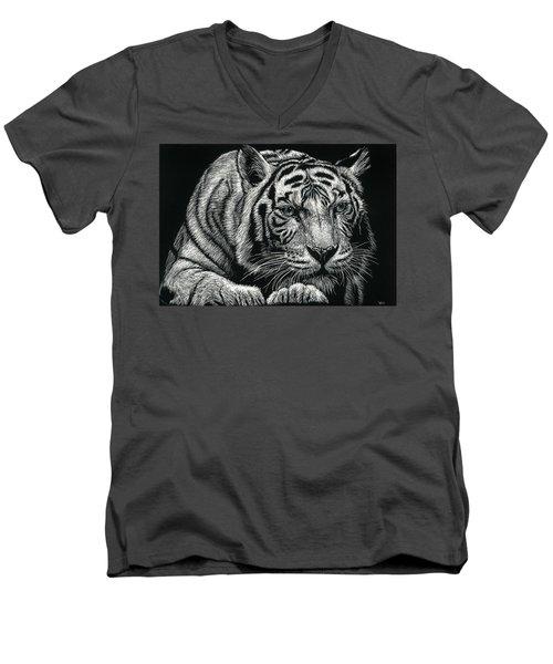 Tiger Pause Men's V-Neck T-Shirt