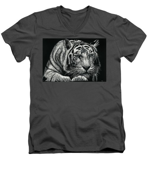 Tiger Pause Men's V-Neck T-Shirt