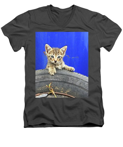 Tiger Paw Men's V-Neck T-Shirt