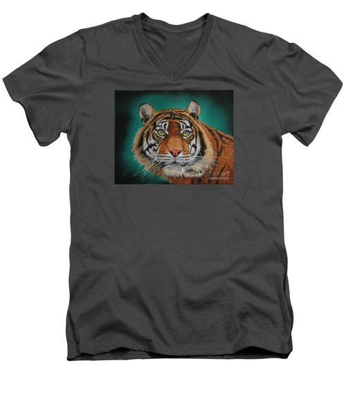 Tiger Portrait......amur Tiger Men's V-Neck T-Shirt