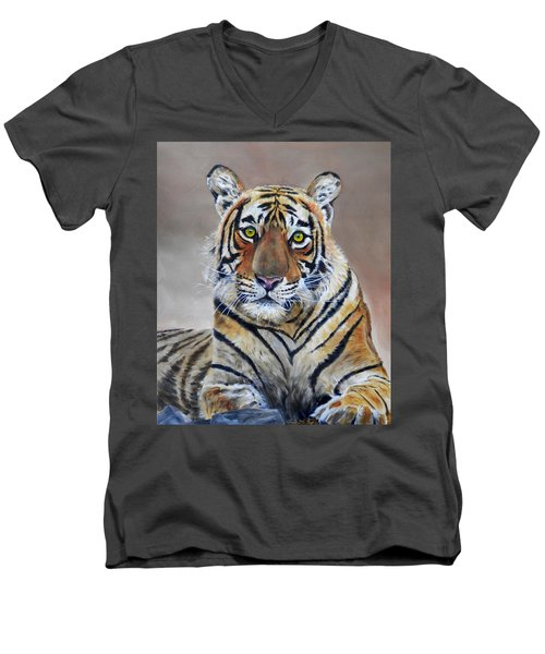Tiger Portrait Men's V-Neck T-Shirt