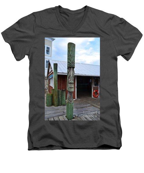 Tiki American Fish Company Men's V-Neck T-Shirt