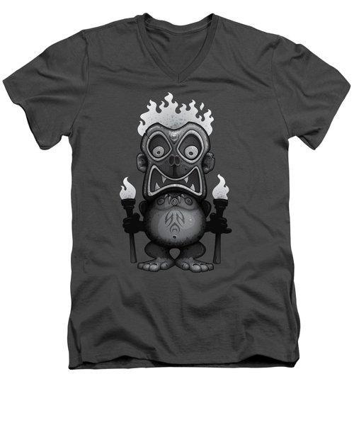 Tiki Munkee Men's V-Neck T-Shirt