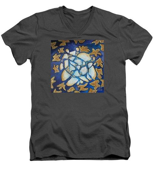 Tikkun Olam Heal The World Men's V-Neck T-Shirt by Laurie Morgan