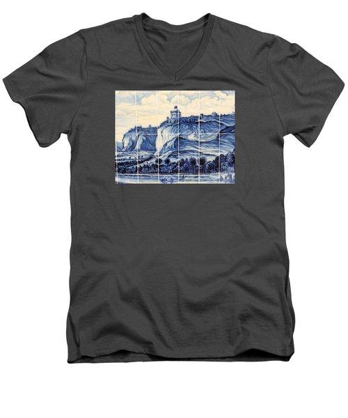 Tile Art Of African History Men's V-Neck T-Shirt by John Potts