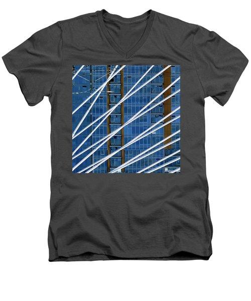Tilikum Bridge Men's V-Neck T-Shirt by Jerry Sodorff