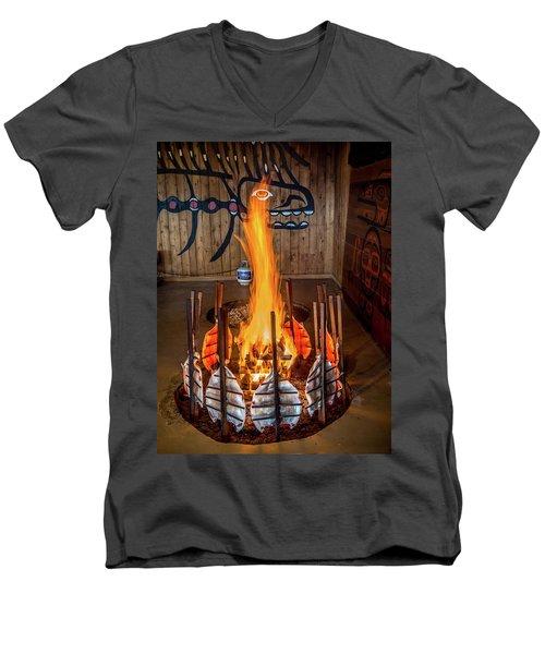 Tillicum Village Salmon Cook Men's V-Neck T-Shirt