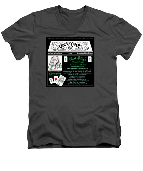 Real Fake News Tilly's Travel Card Men's V-Neck T-Shirt