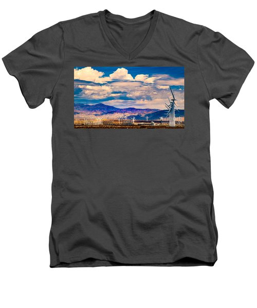 Tilting At Windmills Men's V-Neck T-Shirt