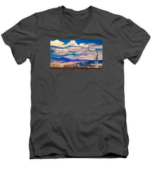 Tilting At Windmills Men's V-Neck T-Shirt