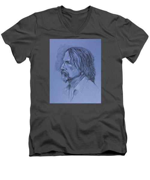 Tim Men's V-Neck T-Shirt by Maxim Komissarchik