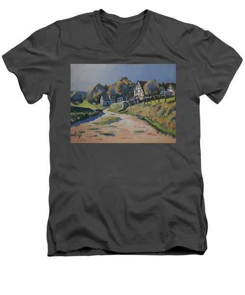 Timbered Houses In Terziet Men's V-Neck T-Shirt