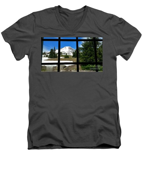 Timberline Lodge View Men's V-Neck T-Shirt