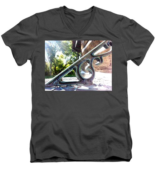 Men's V-Neck T-Shirt featuring the photograph Time At An Angle by Robert Knight