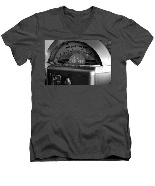 Time Expired Men's V-Neck T-Shirt